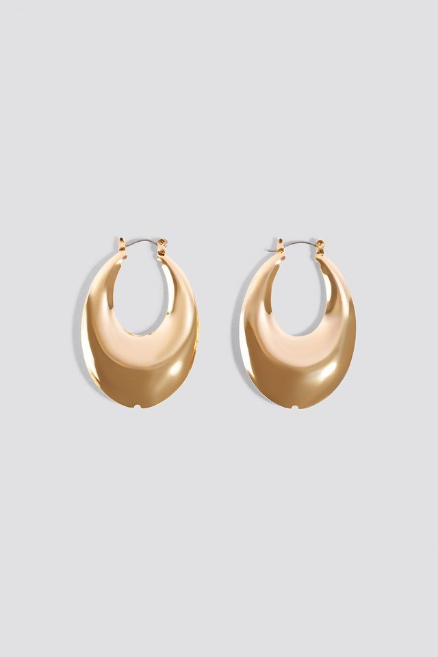 Short Thick Oval Earrings NA-KD Accessories