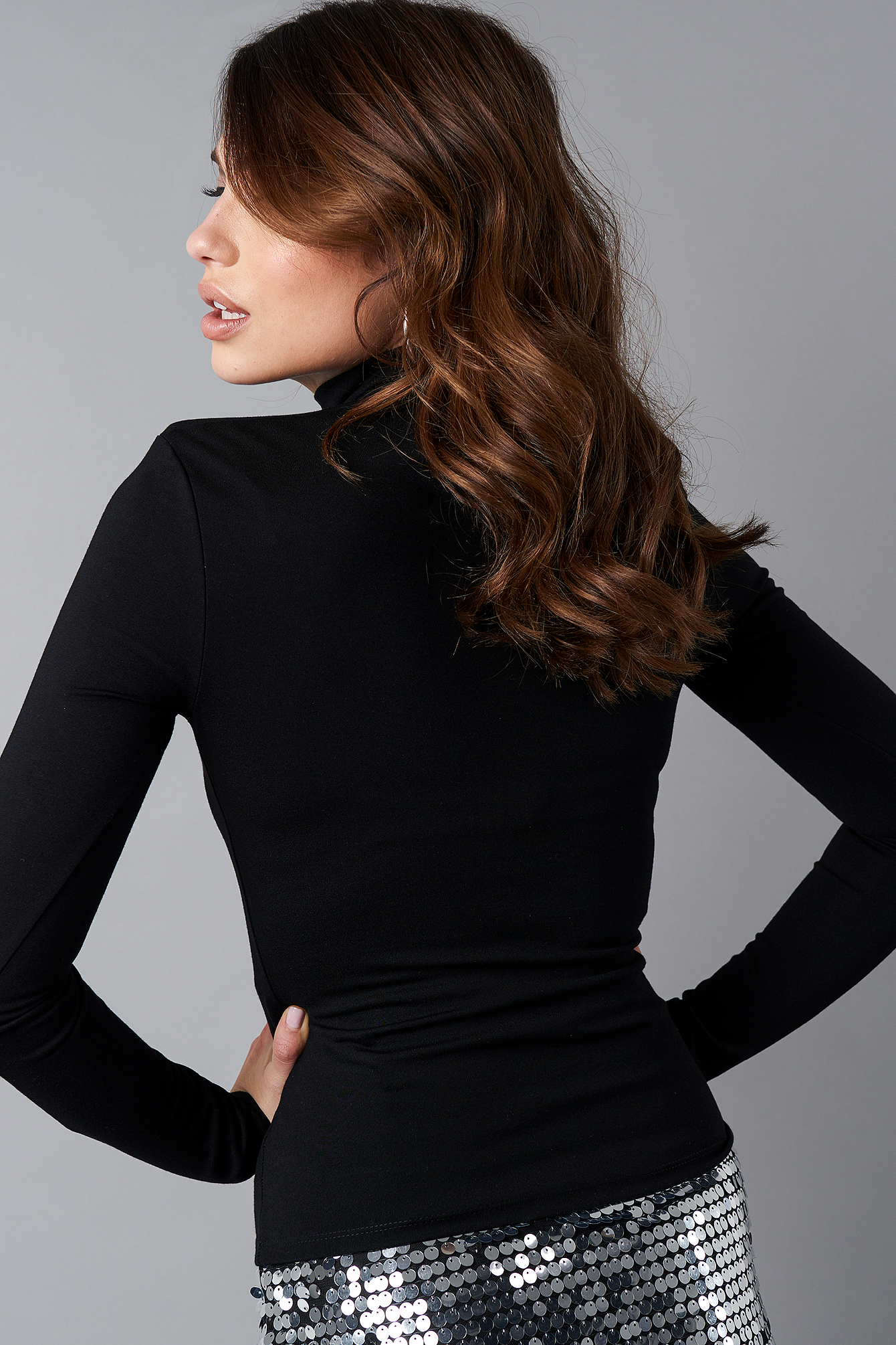 Shoulder Padded Bodycon Top NA-KD.COM