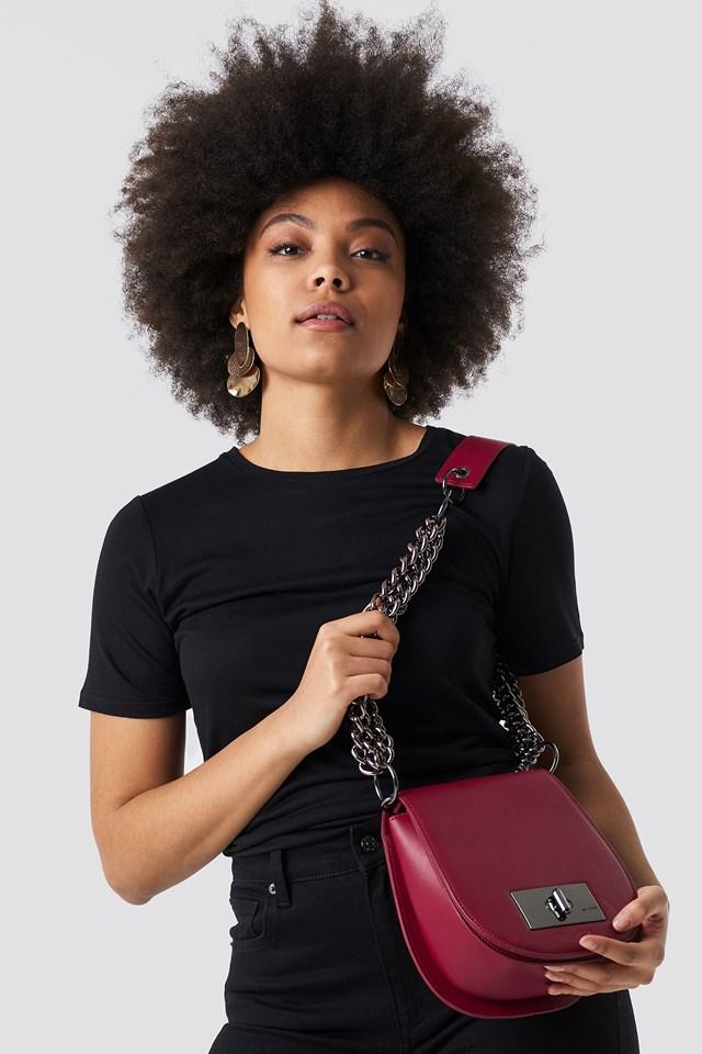 NA-KD Shoulder Bag Bordeaux