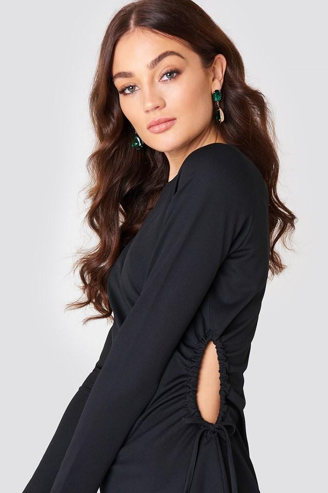 Side Cut Out Dress Black