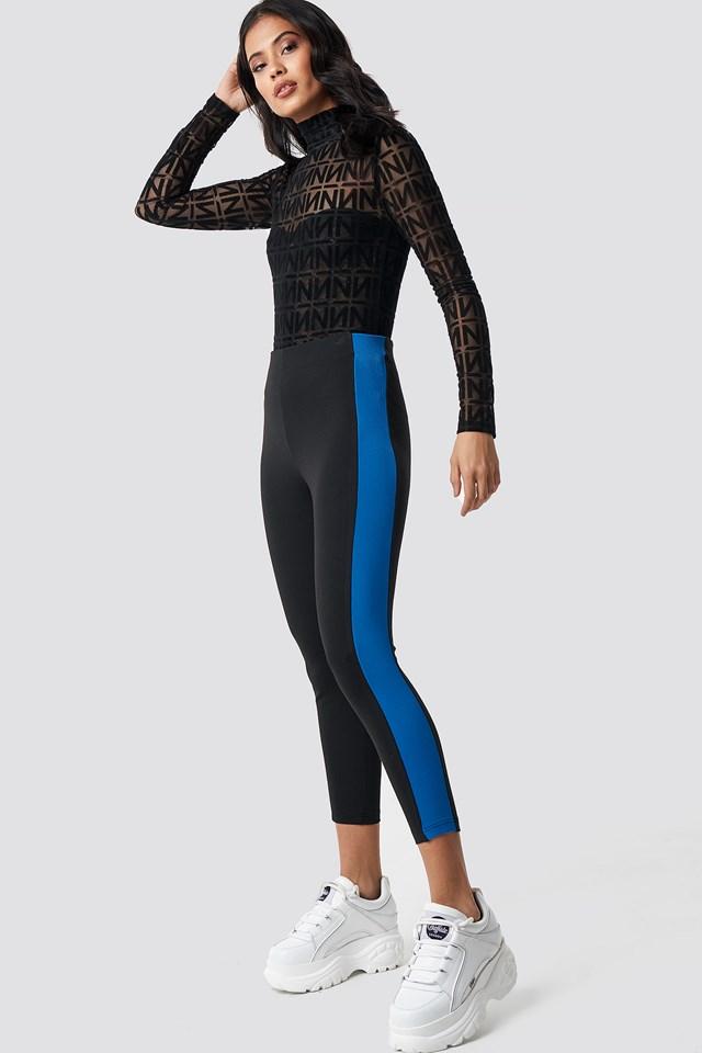 Side Detail Leggings Black