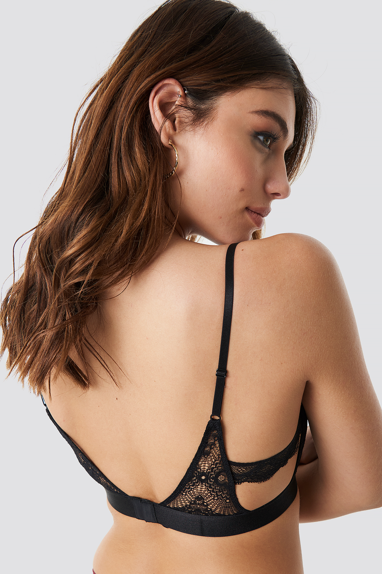 Side Panel Lace Bra NA-KD.COM