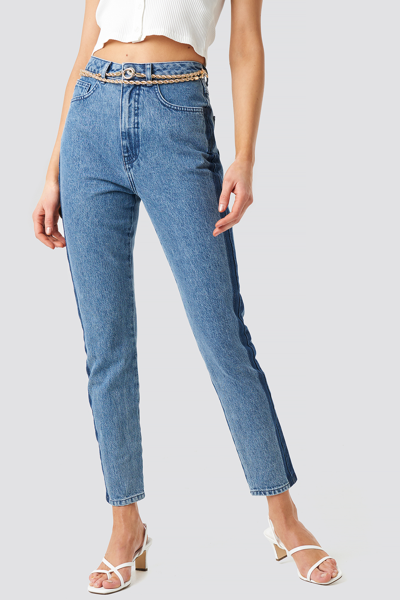 Side Panel Stripe Jeans NA-KD.COM