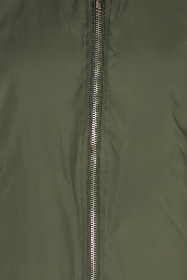 Side Slit Bomber Jacket Army Green