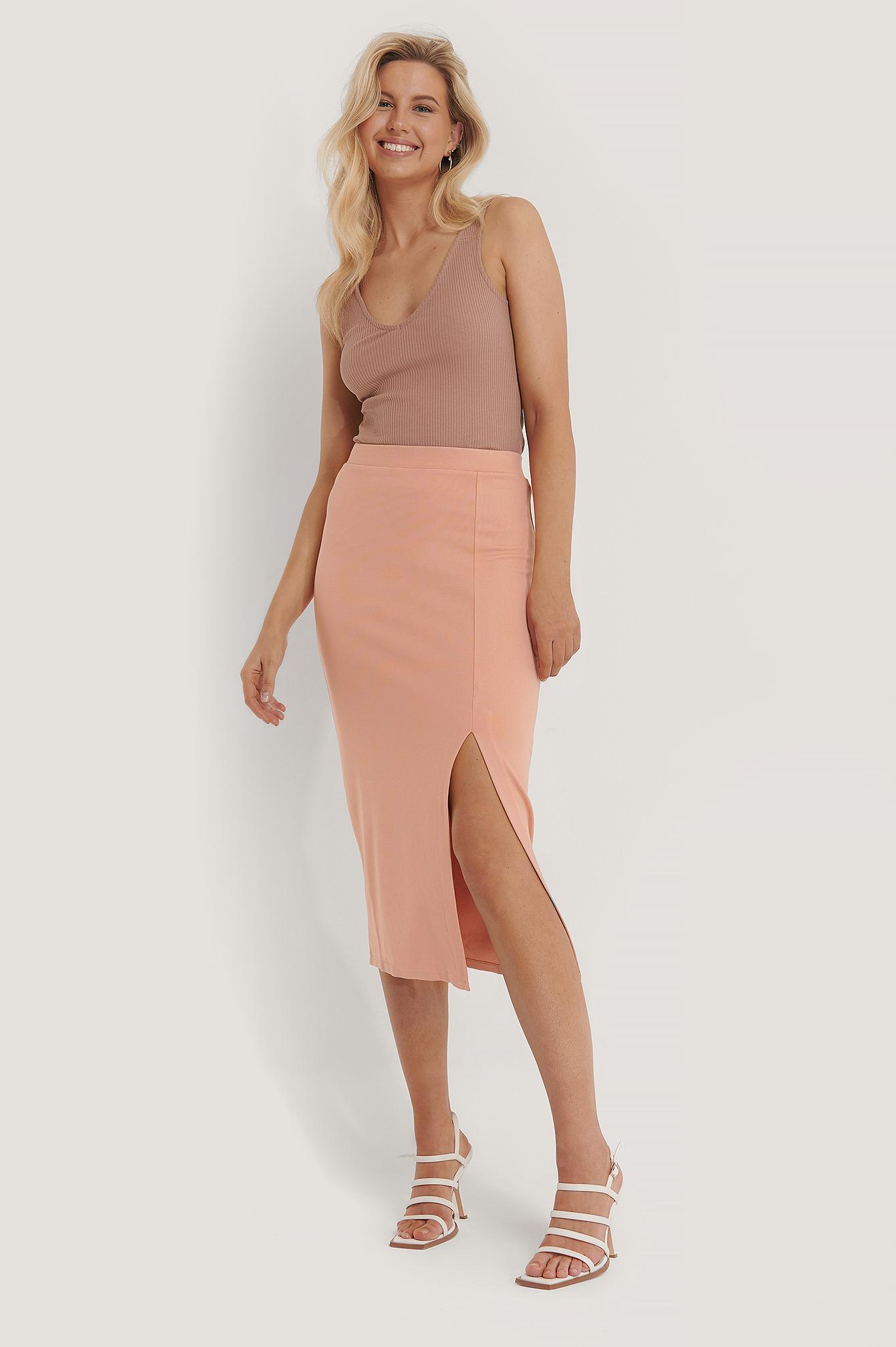 NA-KD Jersey-Rock - Pink | Bekleidung > Röcke > Jerseyröcke | NA-KD