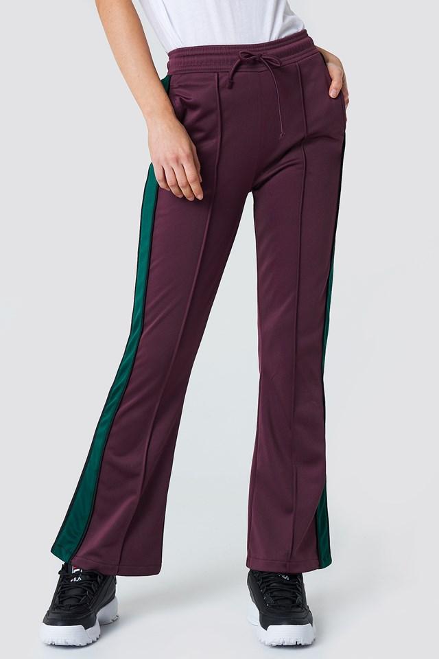 Spodnie sportowe z rozcięciem Bordeaux