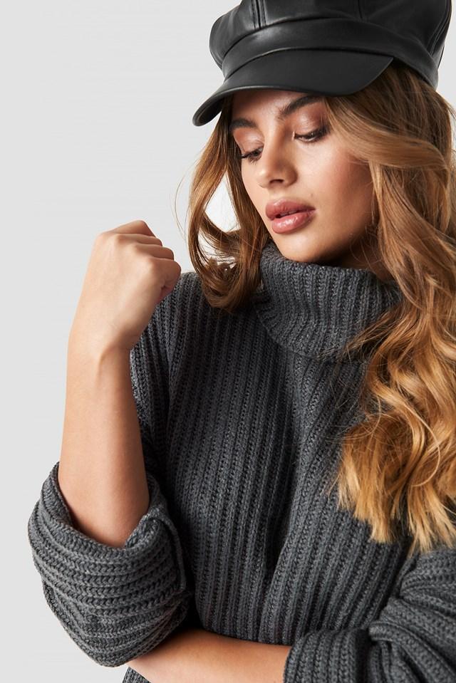 Side Slits High Neck Sweater NA-KD.COM