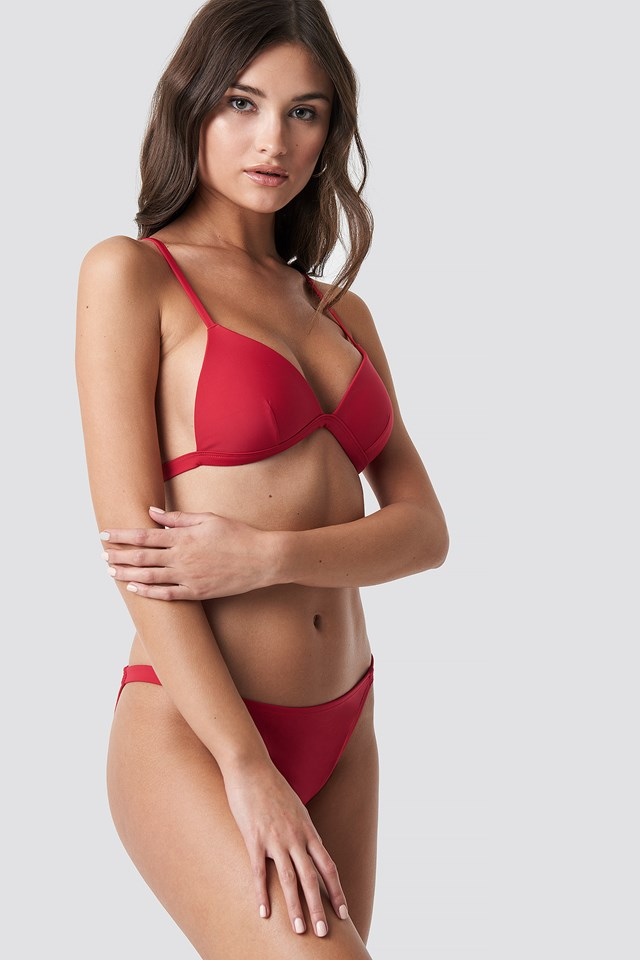Side Strap Bikini Panty Cherry Red