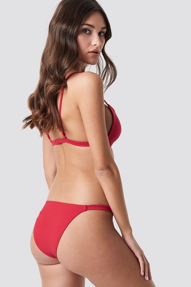 Side Strap Bikini Panty Cherry Red