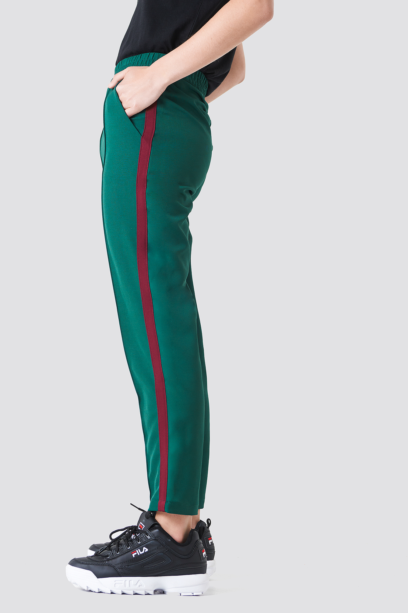 Side Stripe Joggers NA-KD.COM