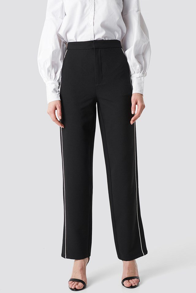 Side Stripe Pant Black
