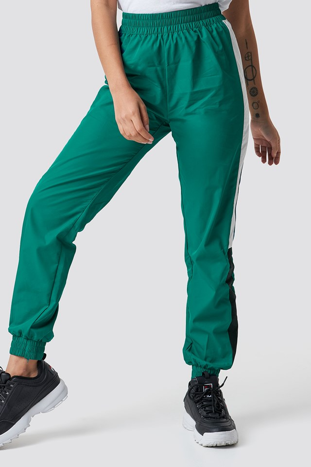Side Stripe Tracksuit Pants Petrol