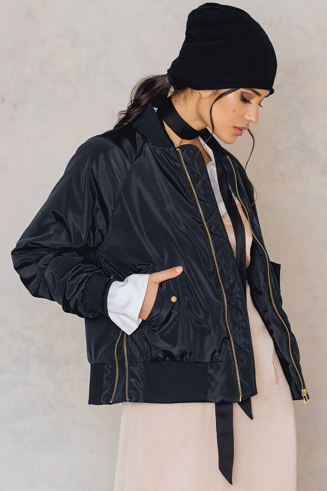Side Zippers Bomber Jacket NA-KD