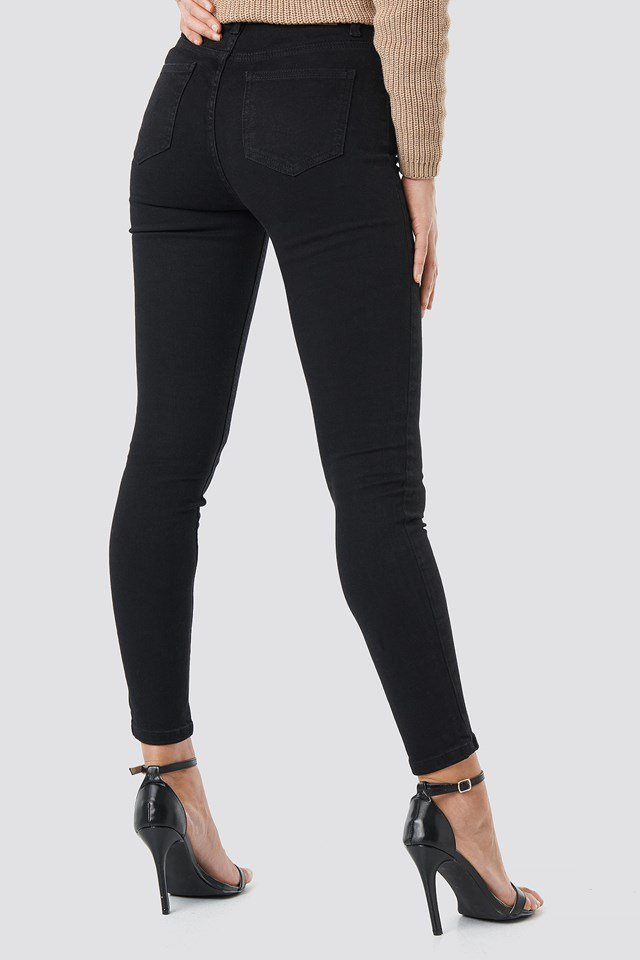 Skinny High Waist Jeans Black