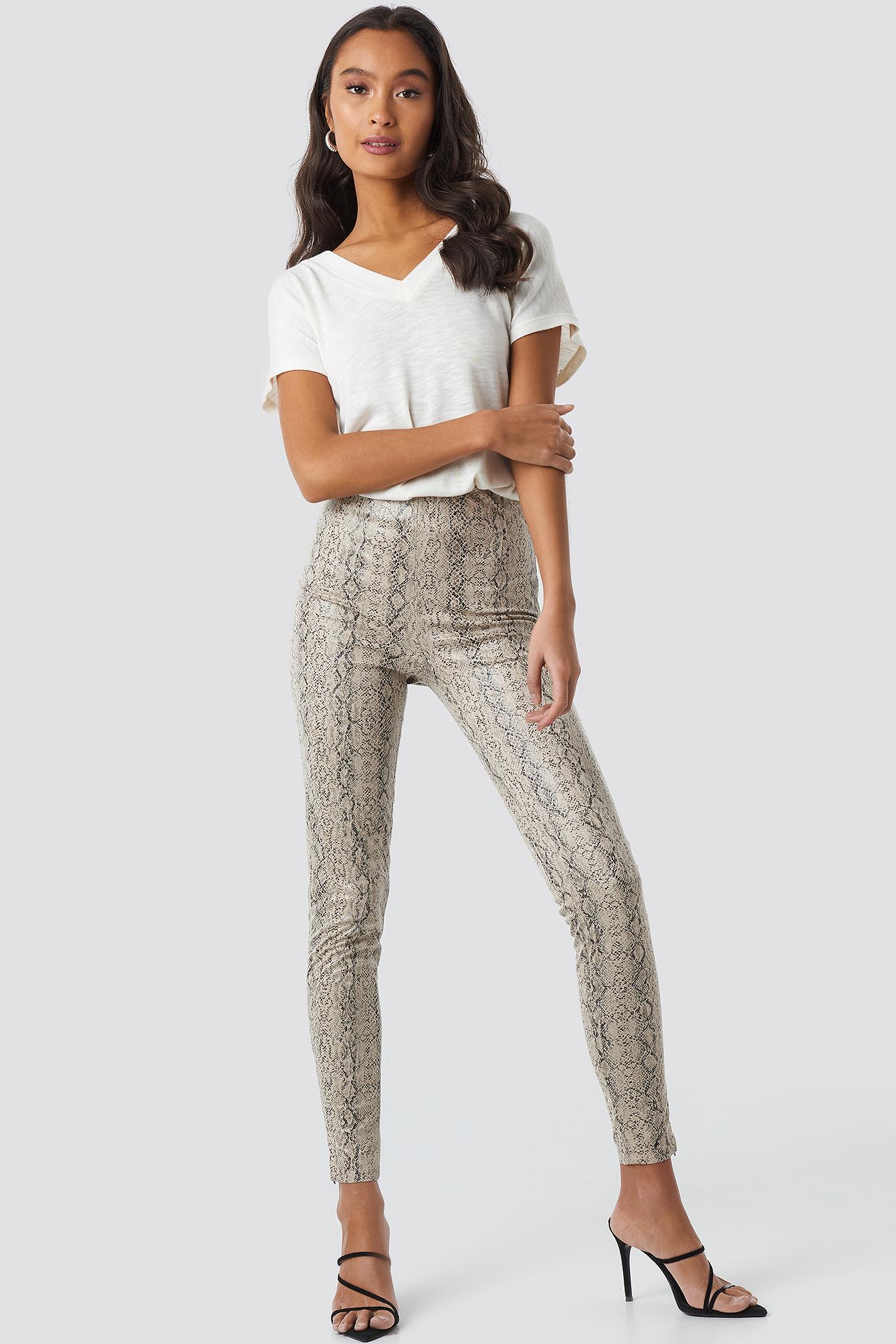 Skinny Snake Skin  Pants NA-KD.COM