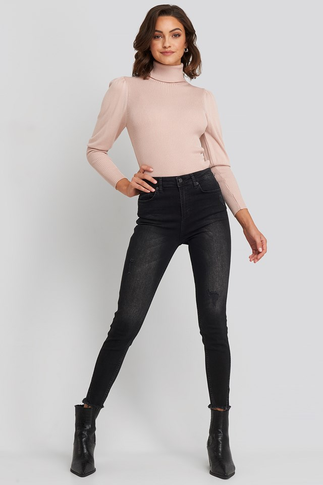 Skinny Twisted Jeans Black