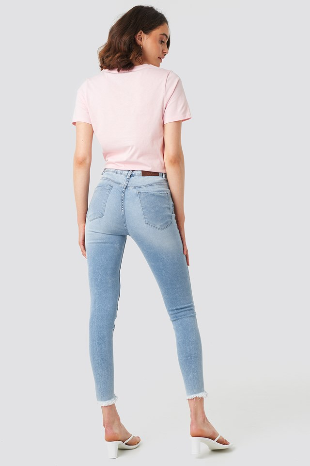Skinny Twisted Jeans Light Blue