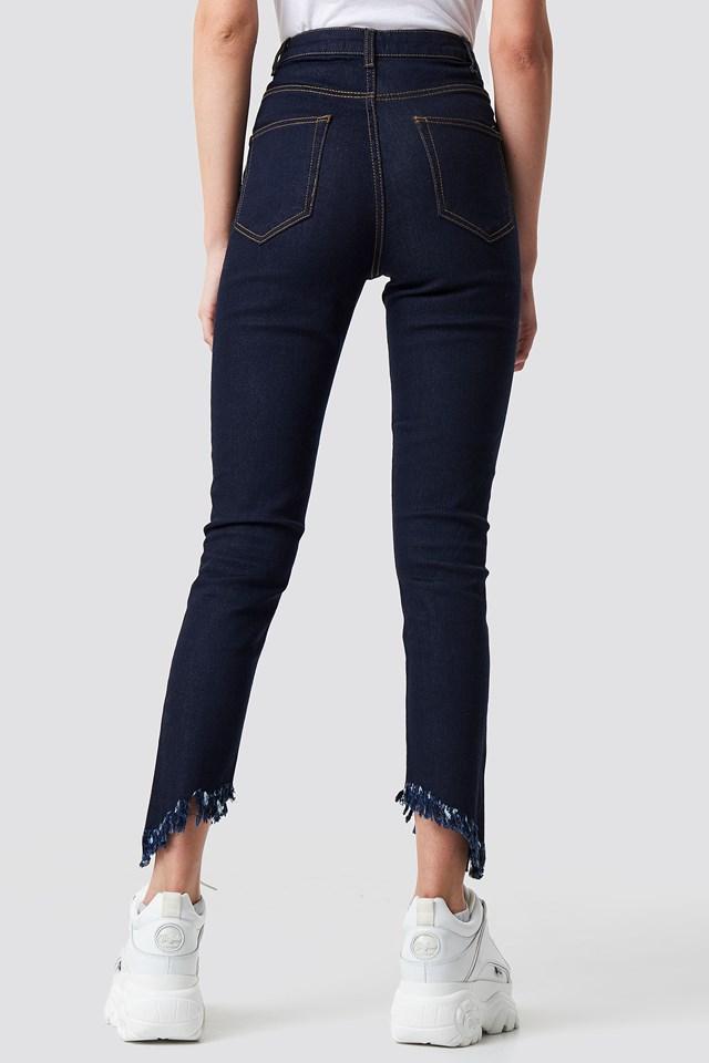 Slanting Hem Jeans NA-KD.COM