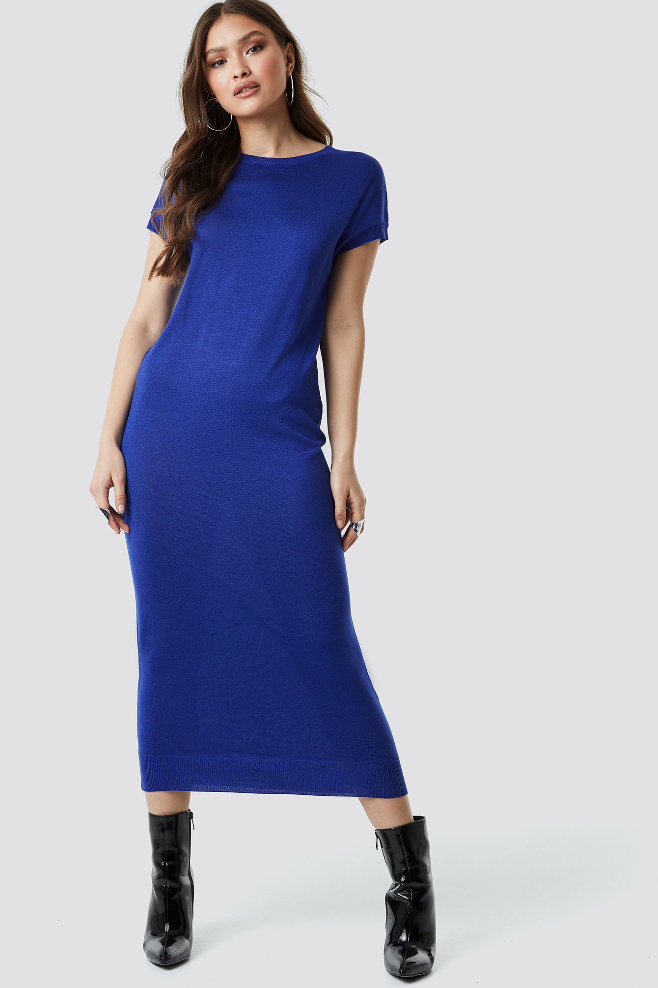 Sleeveless Midi Knit Dress NA-KD.COM