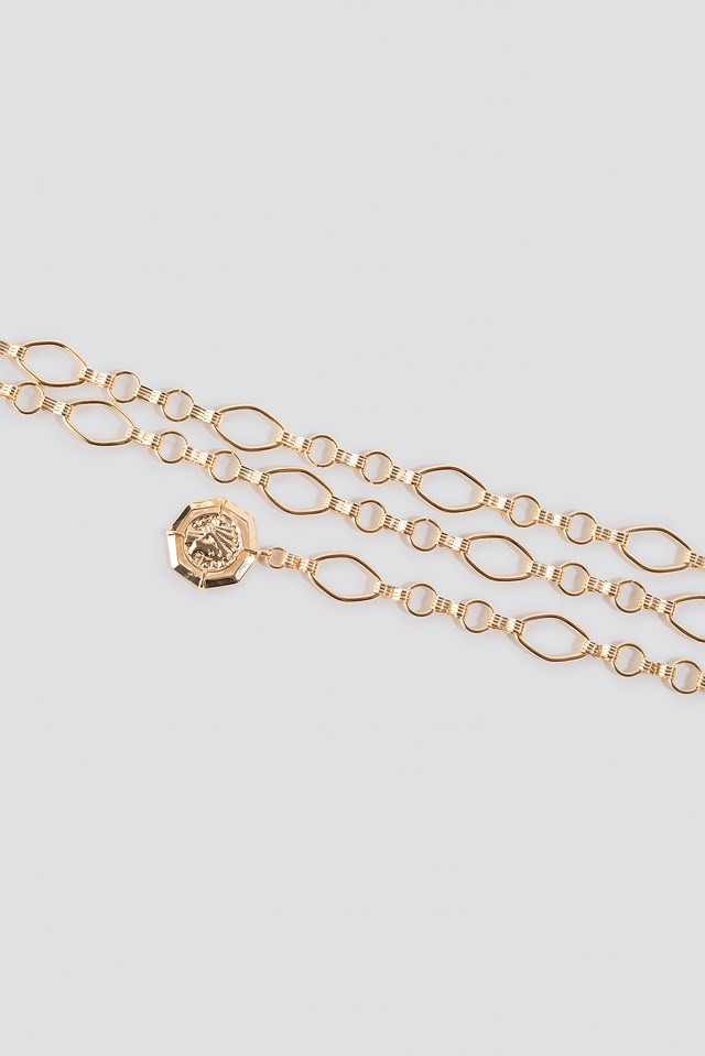 Slim Chain Belt Gold