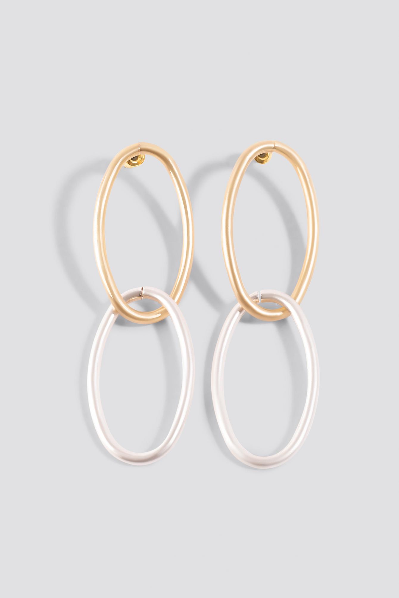 Slim Chained Hoop Earrings NA-KD.COM