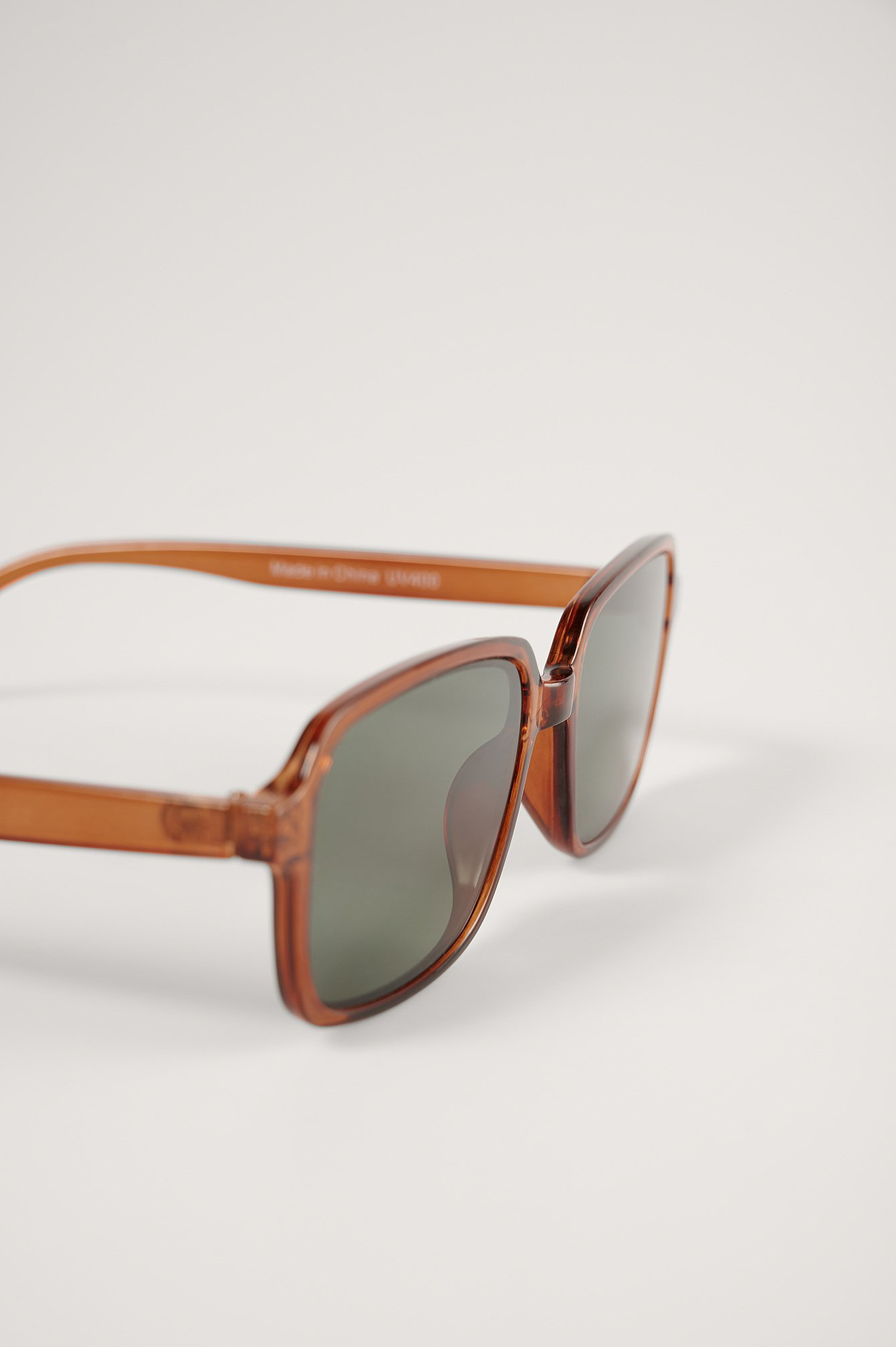 Brown Slim Frame Retro Sonnenbrille