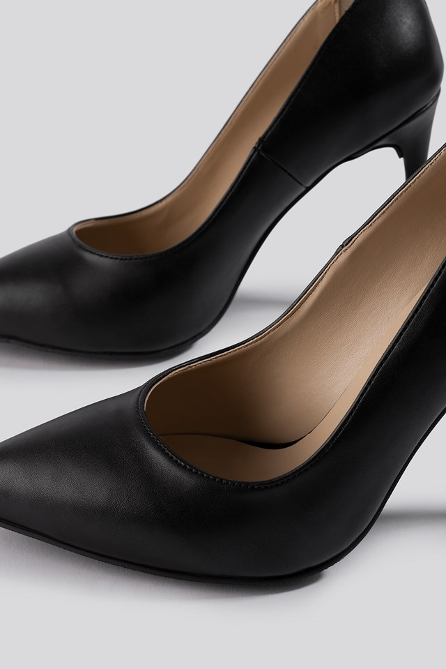 Slim High Heel Pumps Black
