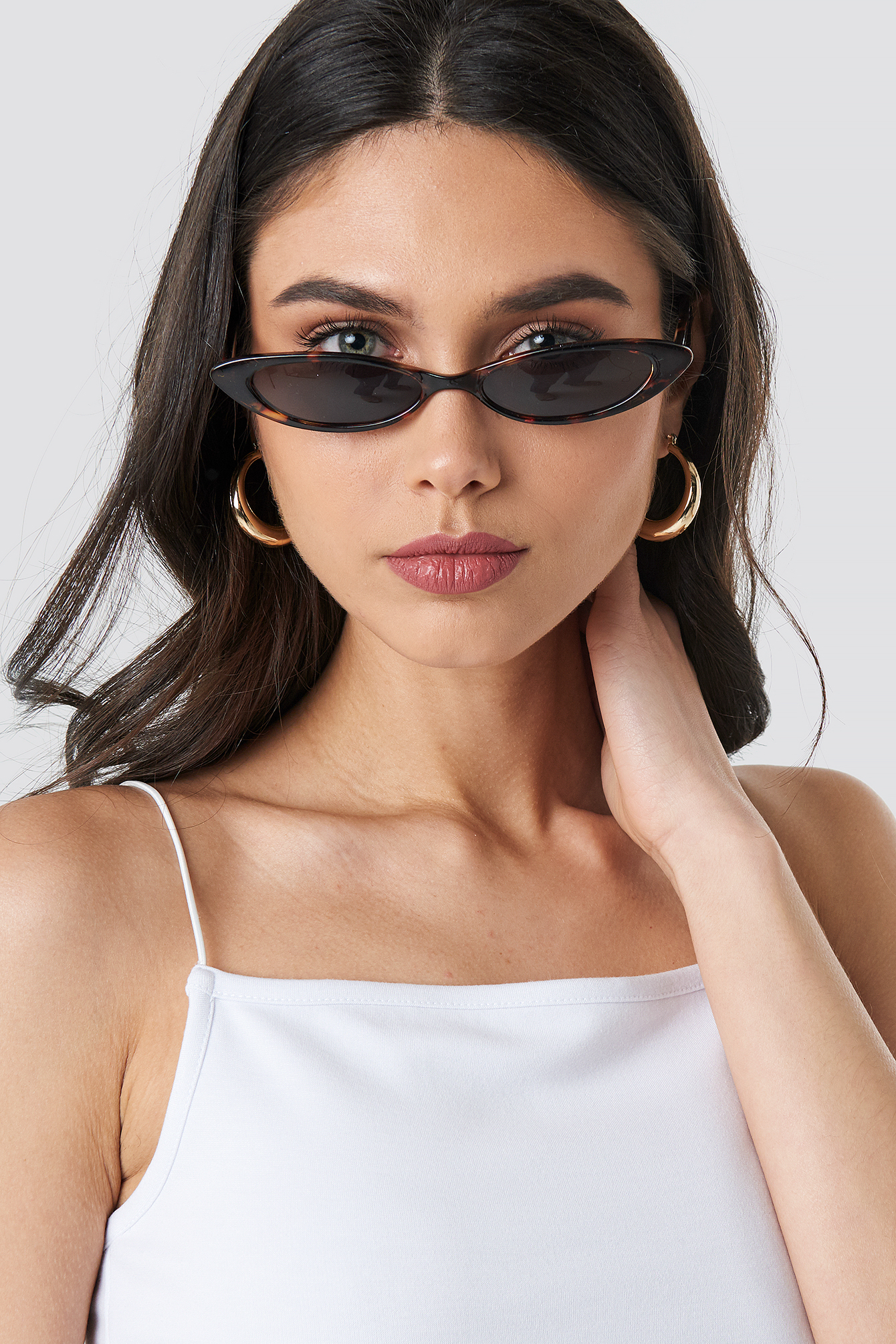 Slim Pointy Cat Eye Sunglasses NA-KD.COM