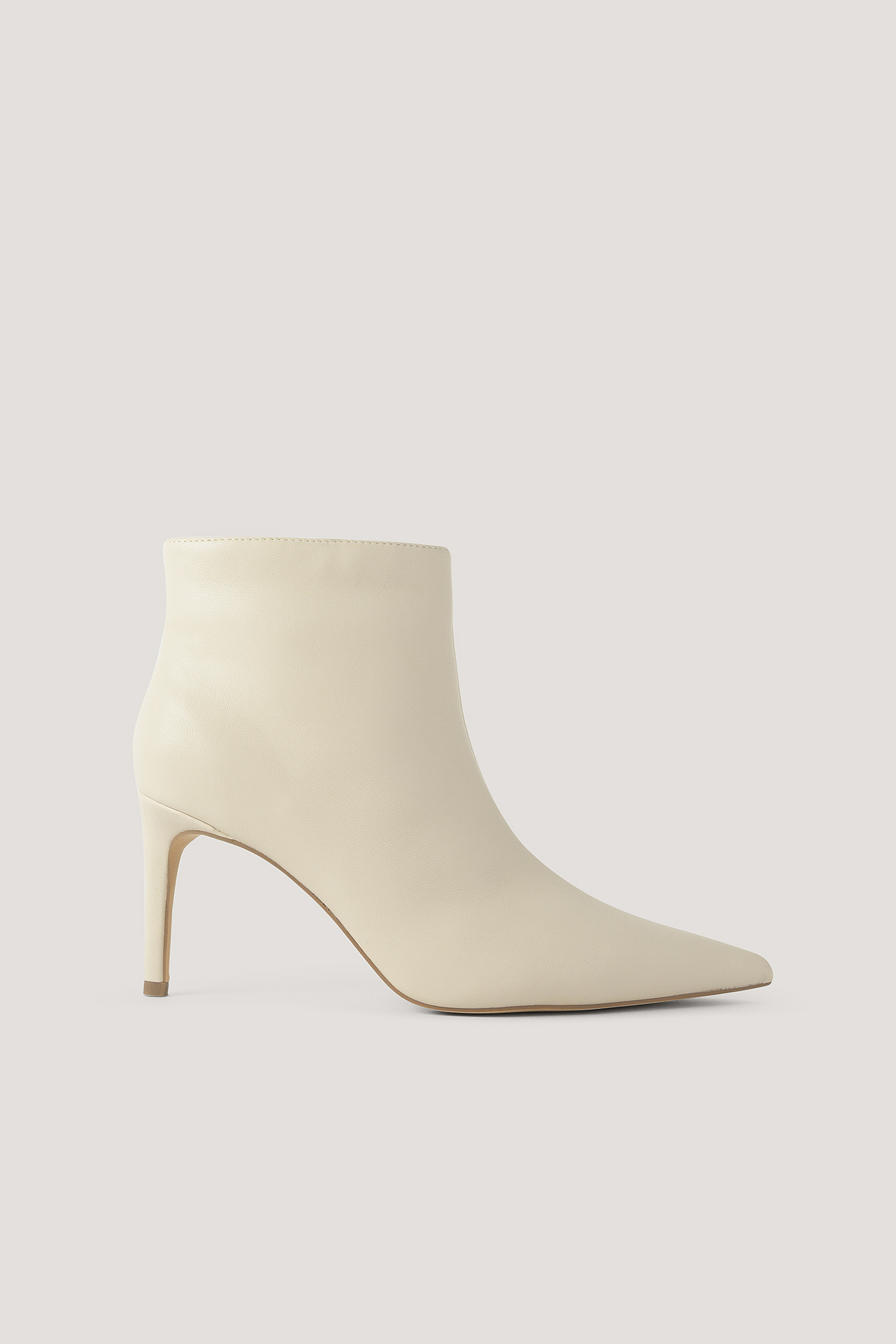 Na-Kd Shoes Slim Pointy Stiletto Boots - Beige,Offwhite