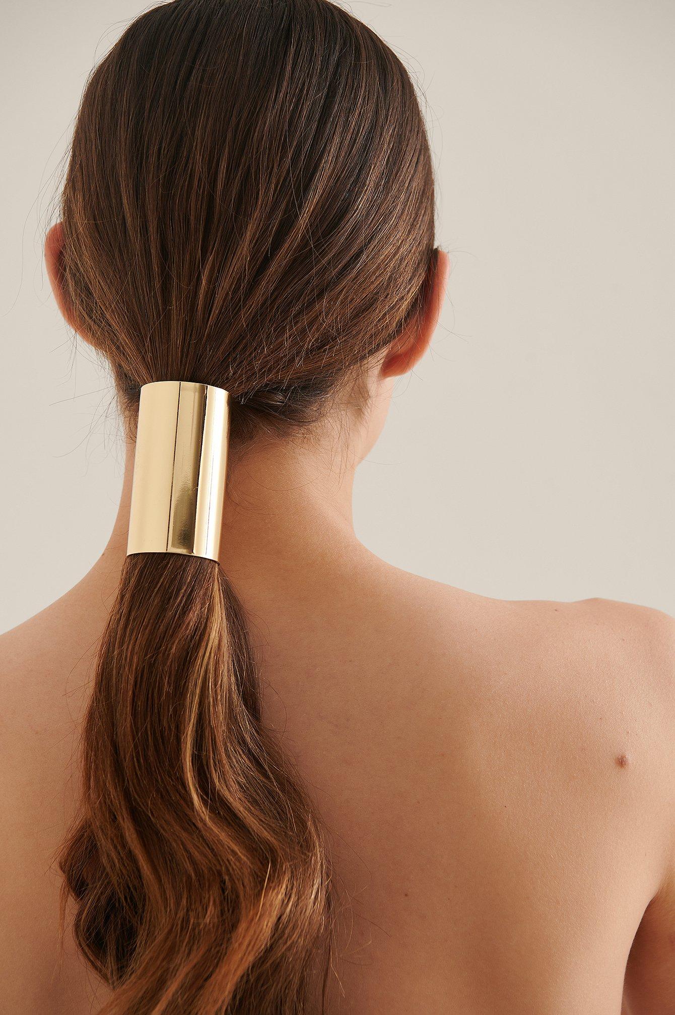 na-kd accessories -  Feines Pferdeschwanz-Accessoire - Gold