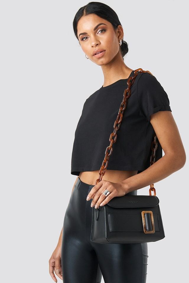 Slim Resin Bag Chain Tortoise