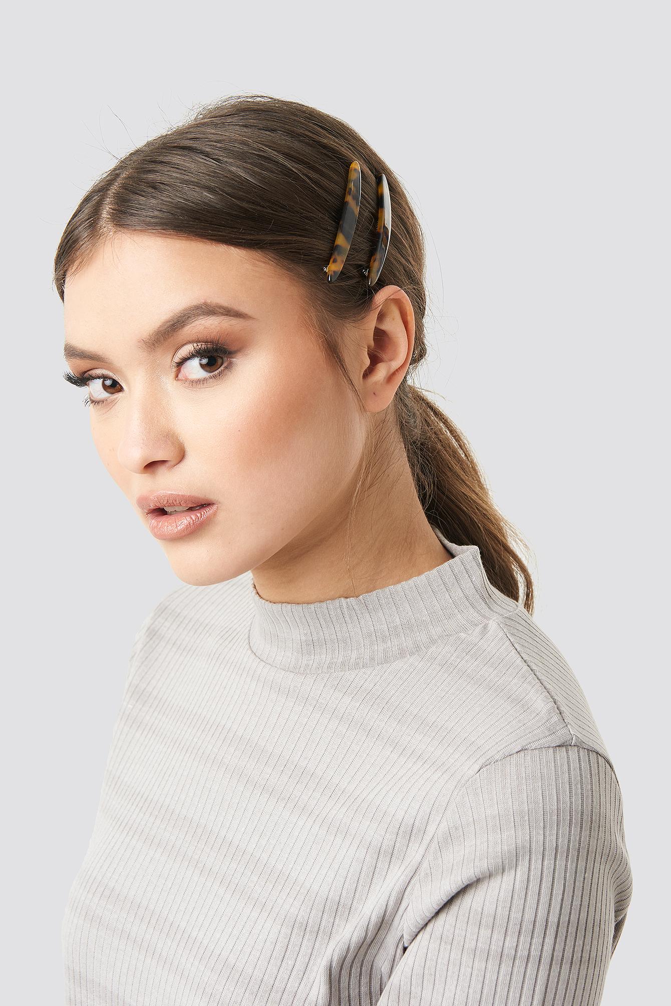 Slim Resin Hairclips (2-pack) NA-KD.COM