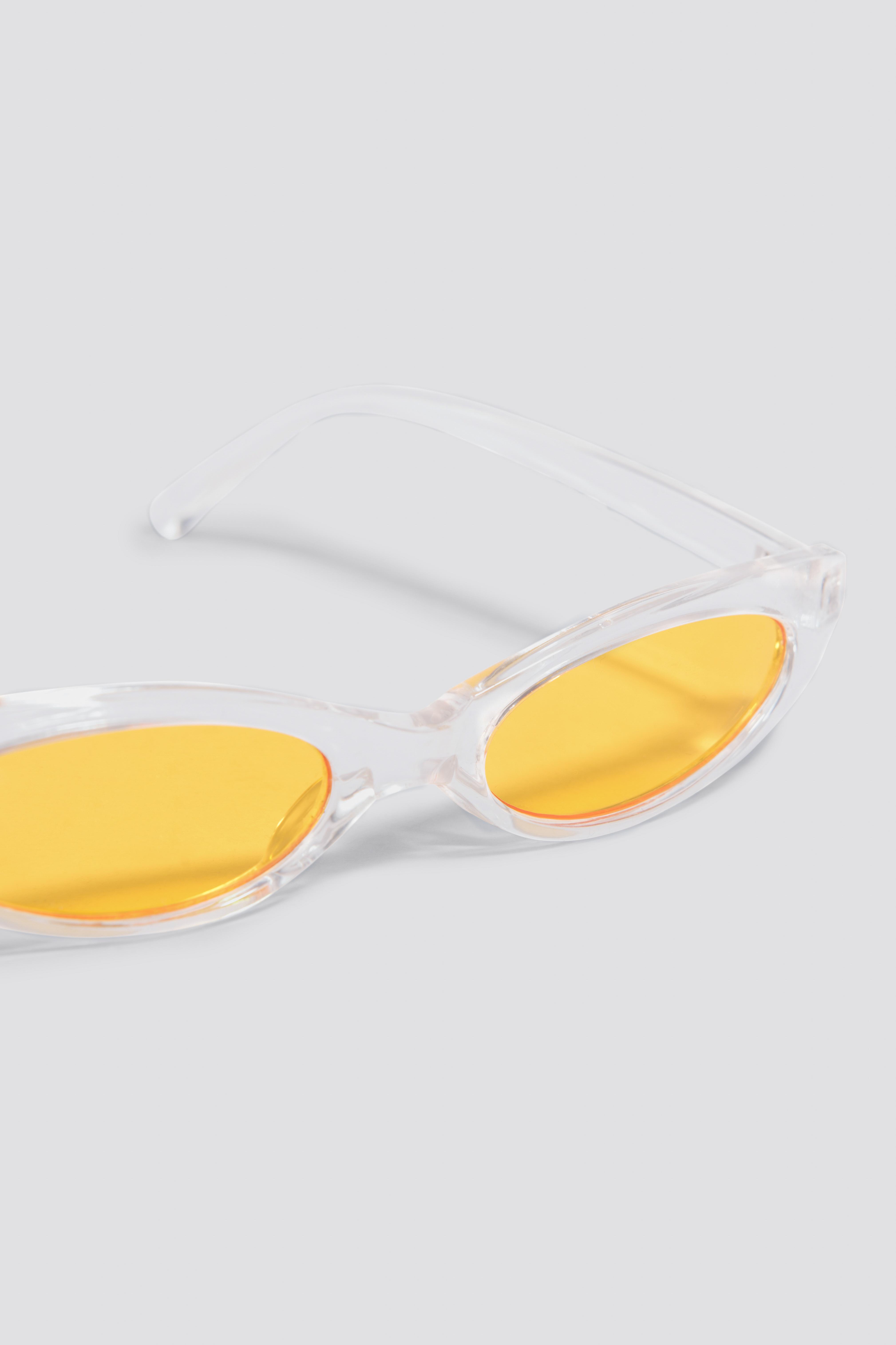 Wąskie okulary przeciwsłoneczne kocie oczy NA-KD.COM