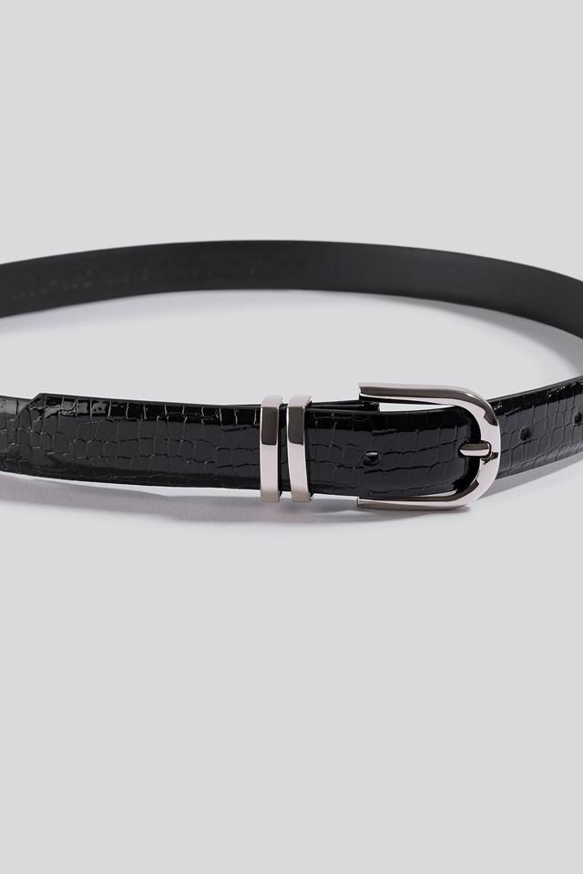 Slim Snake Look Belt Black