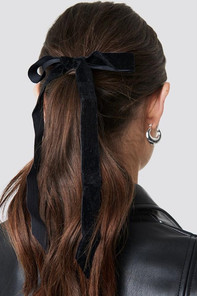 Slim Velvet Bow Scrunchies (2-Pack) NA-KD.COM