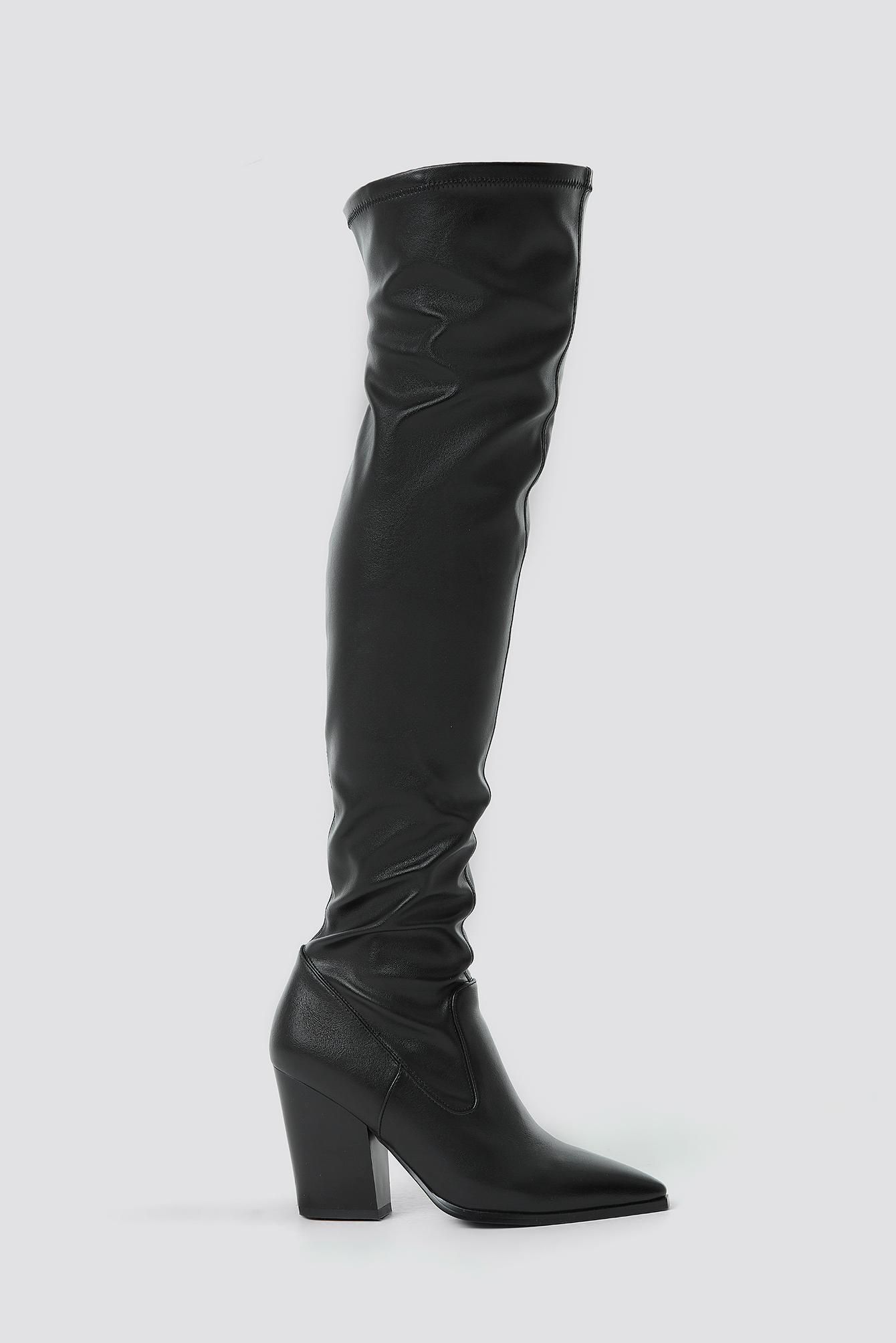 Slim Western Overknee Boots NA-KD.COM