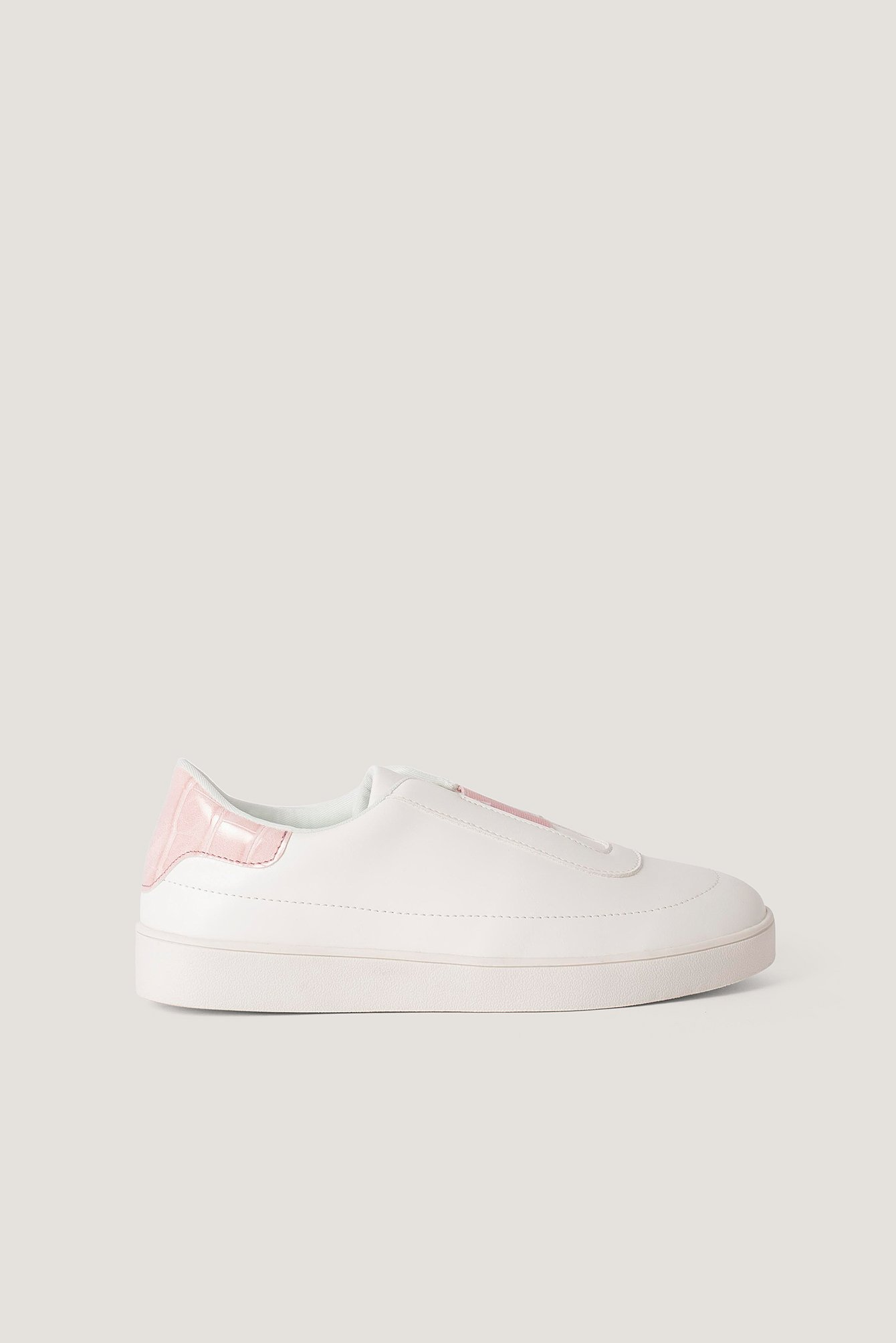Offwhite/Pink Slip In Trainers