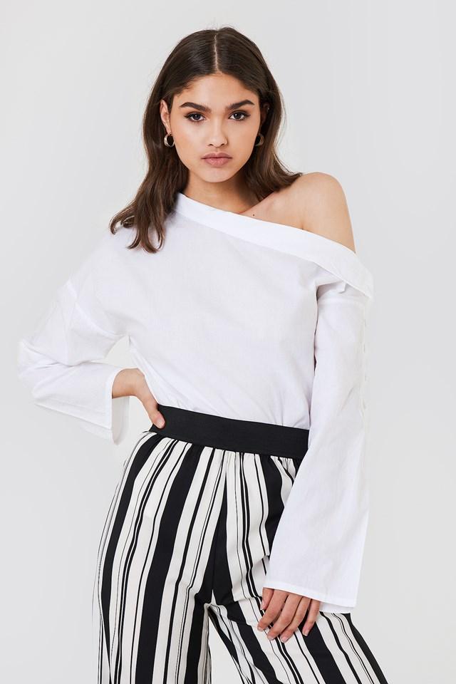 Slip Shoulder Button Shirt NA-KD.COM