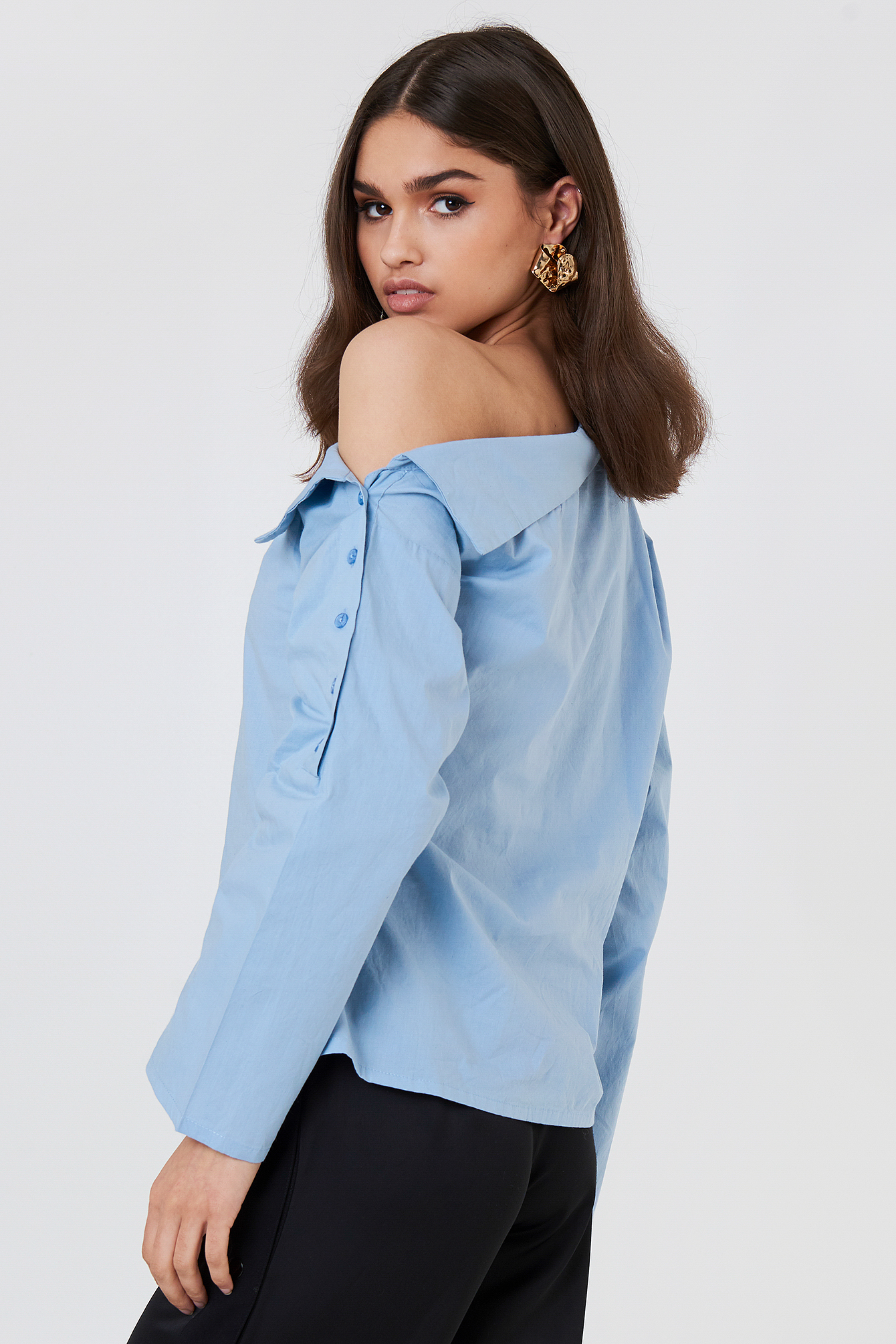 Slip Shoulder Button Shirt NA-KD.COM