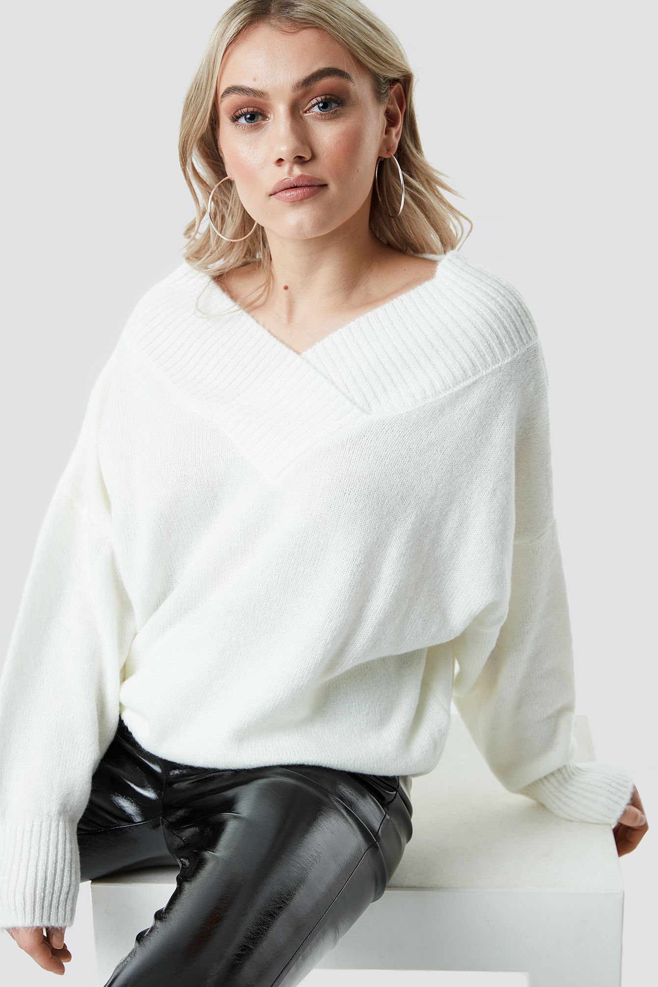Slip Shoulder Knitted Sweater NA-KD.COM