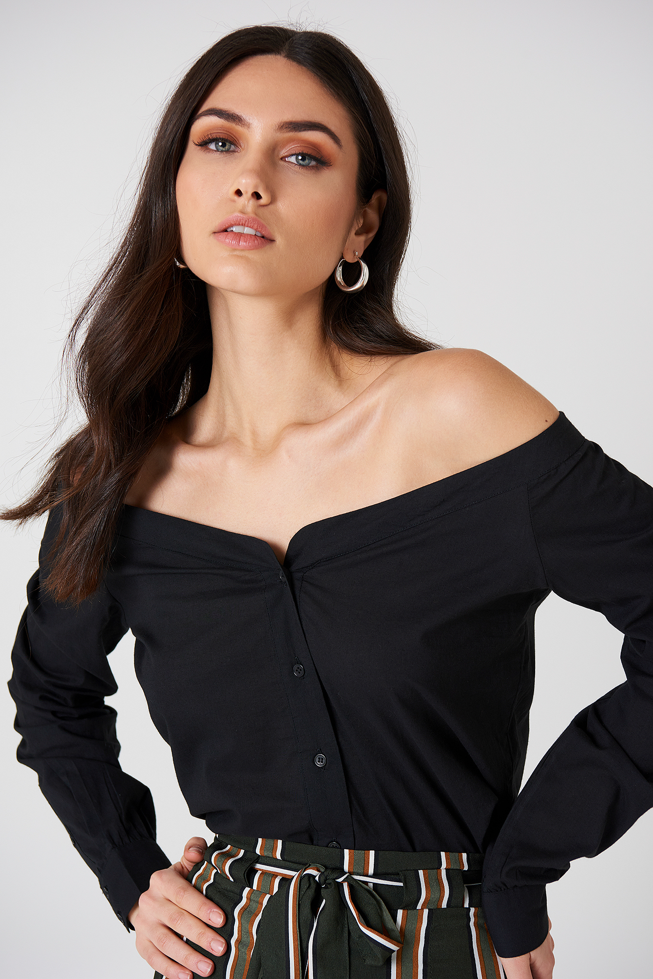 Slip Shoulder Shirt NA-KD.COM