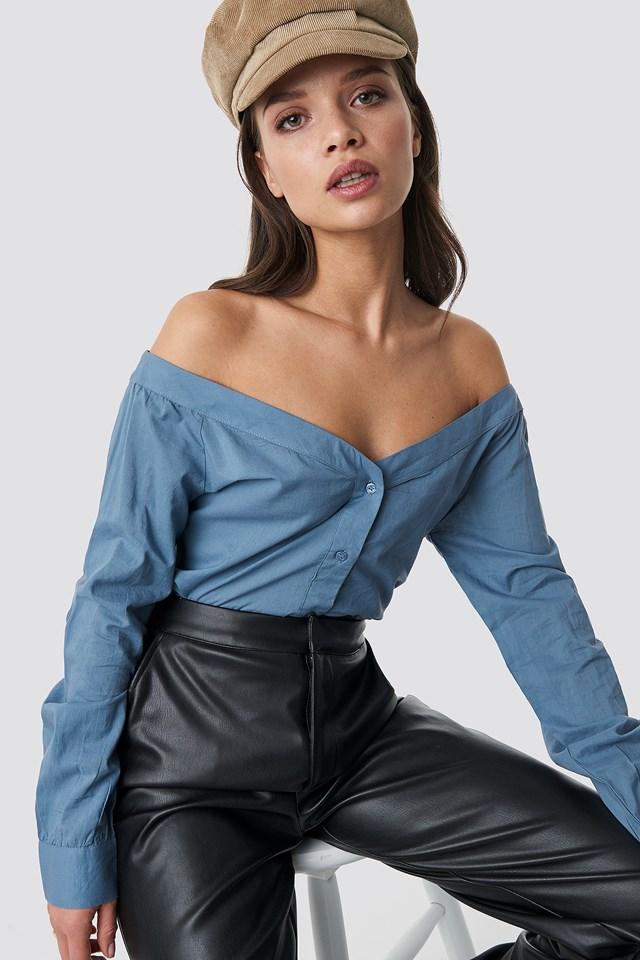 Slip Shoulder Shirt NA-KD Trend