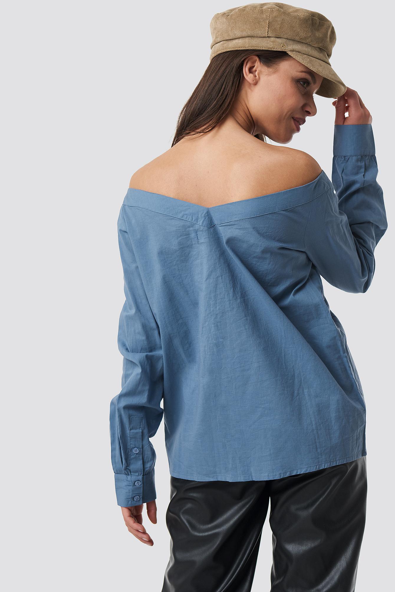 Koszula z odkrytymi ramionami NA-KD.COM