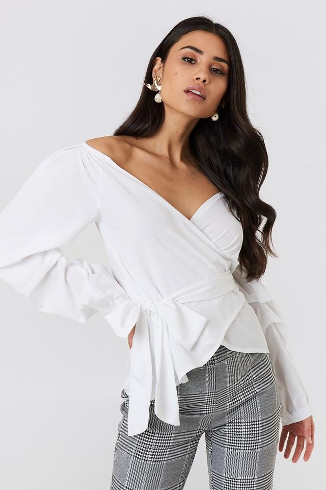 Slip Shoulder Tie Waist Shirt NA-KD