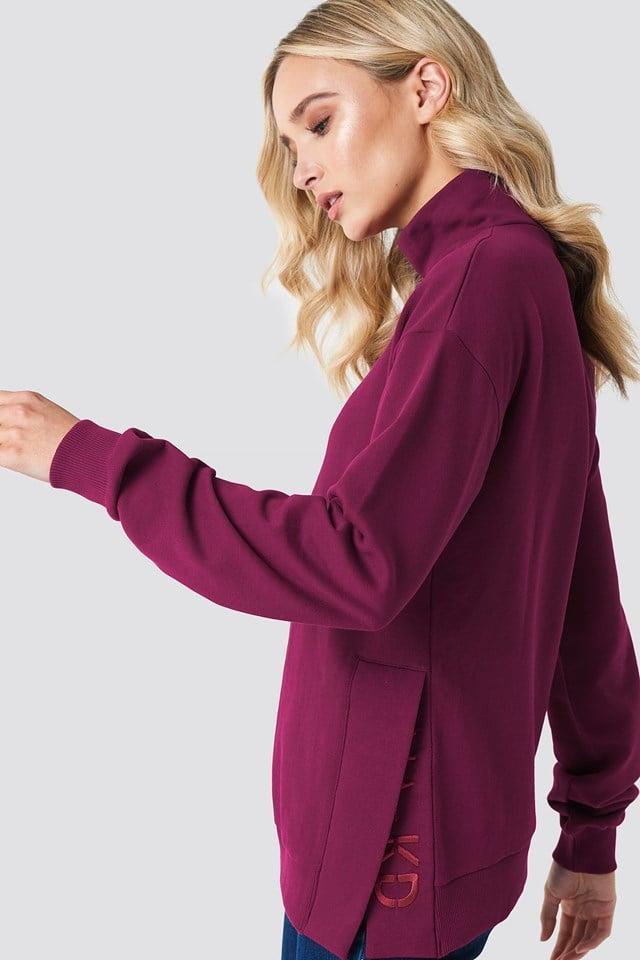 Bluza z rozcięciami Burgundy