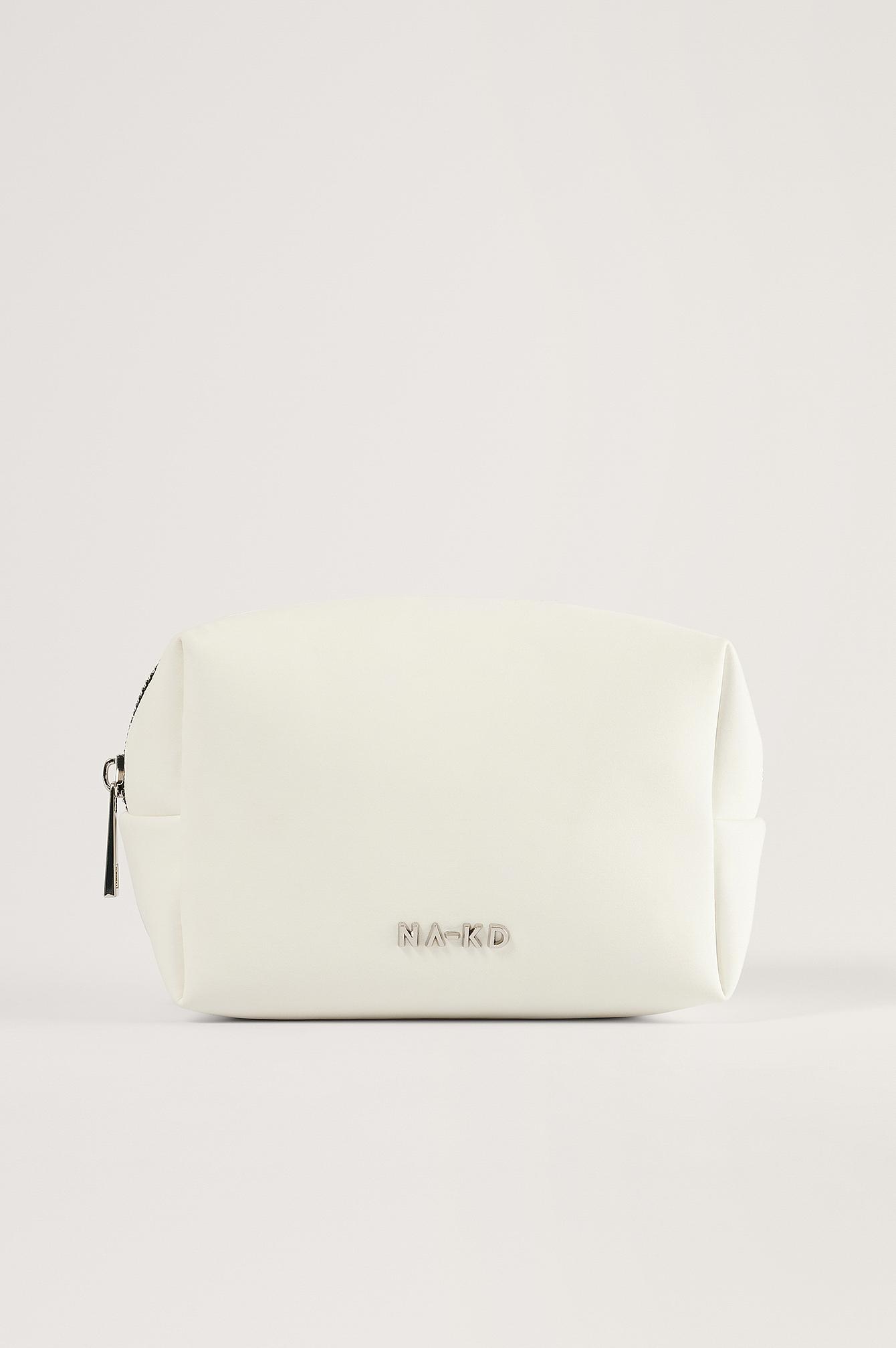 NA-KD Accessories Small Basic Make Up Bag - White