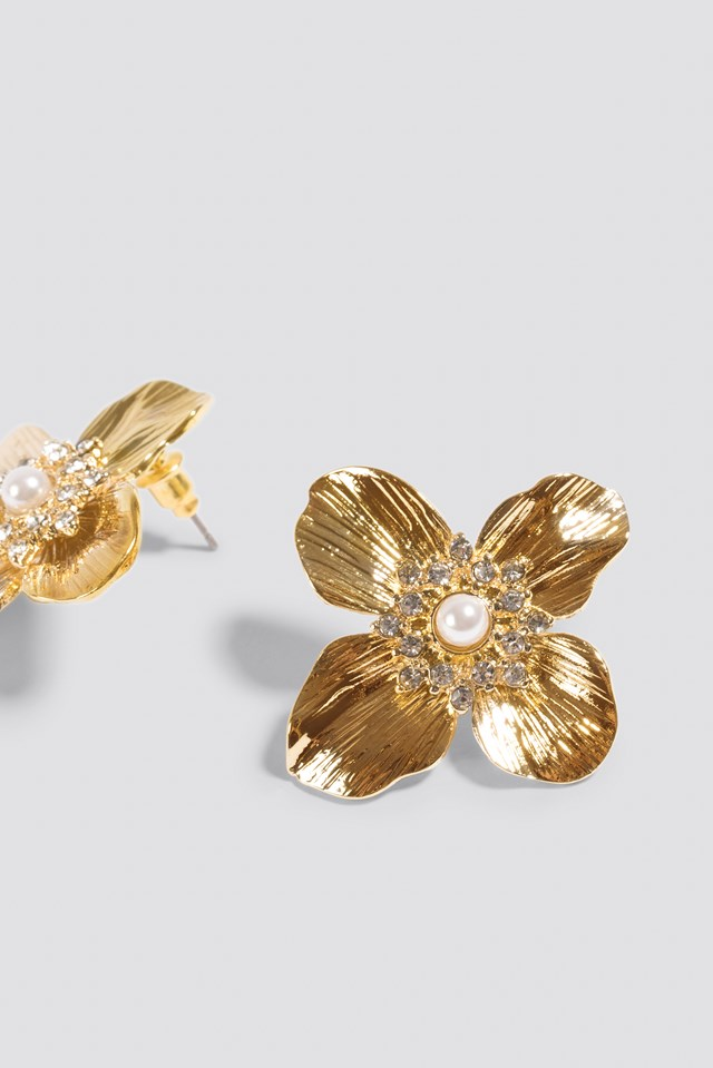 Small Blossom Earstud Gold