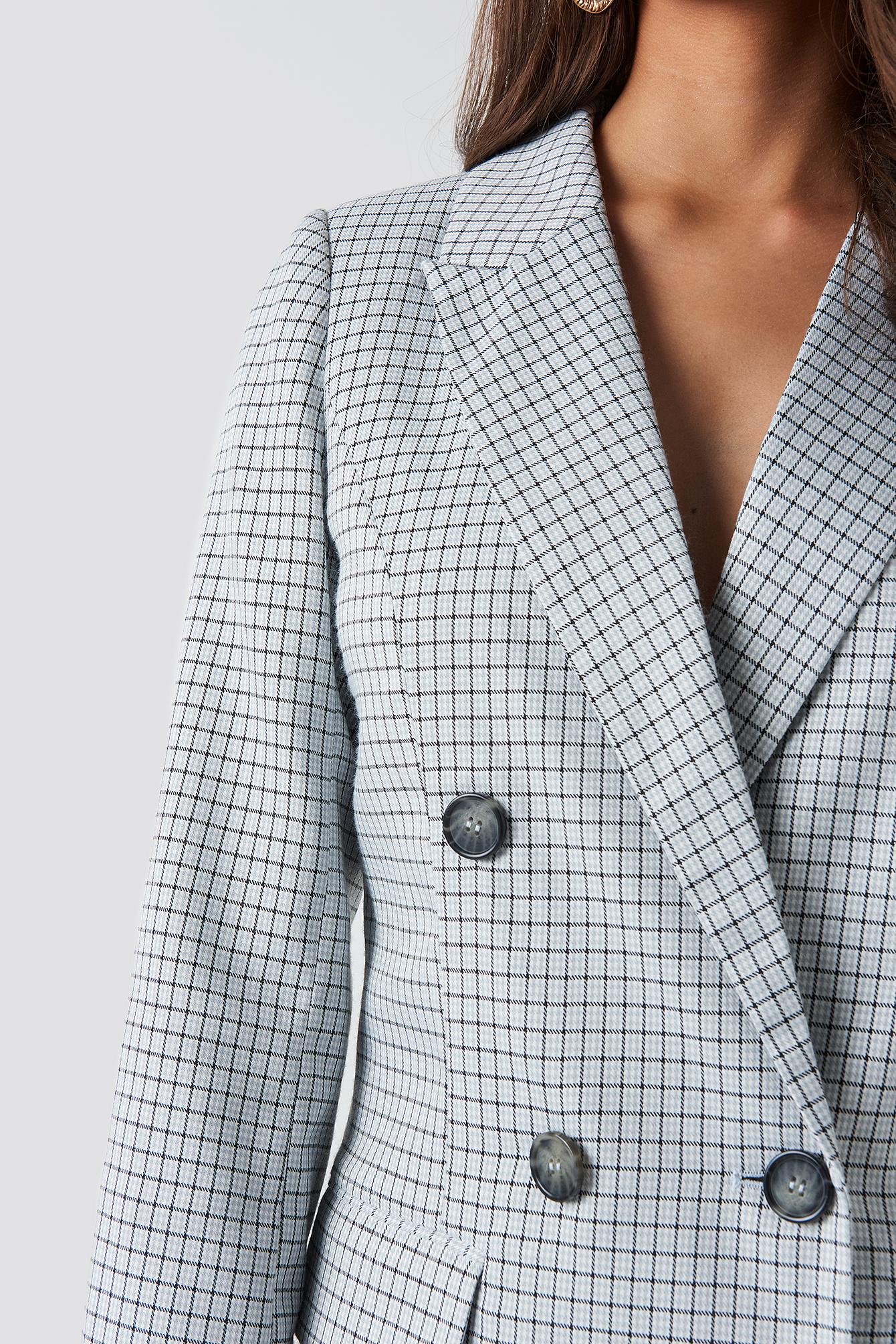 Small Checkered Blazer Dress NA-KD.COM
