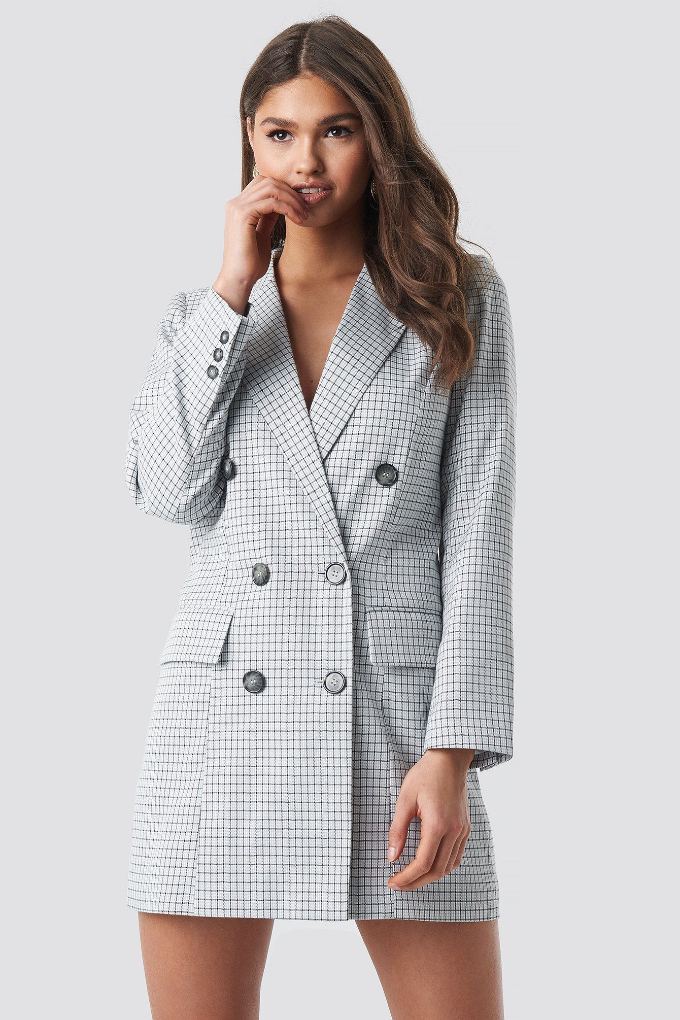Small Checkered Blazer Dress NA-KD.COM