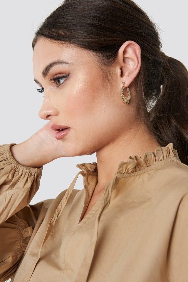 Small Creole Earrings NA-KD Classic